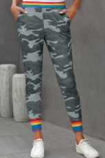 Pantaloni casual Rainbow Stripe Grey Camo