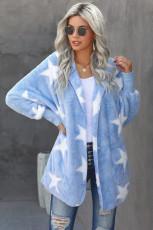 Himmelblå kavaj Scatter Star Fuzzy Coat
