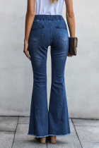 Sky Blue Distom Denim Pants Distressed