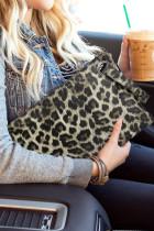 Clutch de leopardo de moda caqui