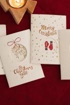 قطع بطاقة عيد الميلاد مع نمط القفازات