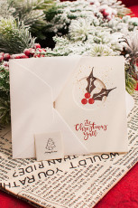 Kivágott karácsonyi kártya