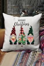 Weihnachtskissenbezug mit Zwergenmuster