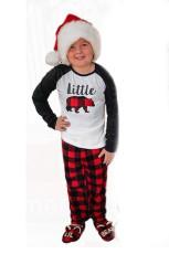 Loungewear-set voor kinderen met geruite print
