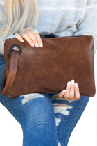 Brown Oversized Everyday Clutch