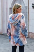 Tie Dye Soft Fleece hupullinen avoin takki