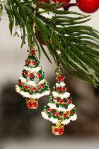 クリスマスツリーフックピアス
