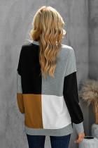 Color Block Rundhalsad långärmad tröja