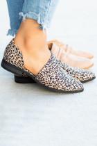 Fashion Flat Toe Leopard Suede