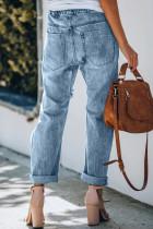 กางเกงยีนส์ Camo Patches Cotton Pocketed
