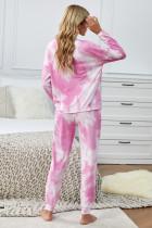 Набор для бега с длинными рукавами Pink Tie Dye