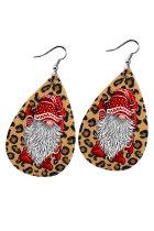 Christmas Gnome Leopard -vesipisarakorvakorut