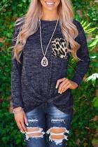Leopard Taskuliitoksen Twist pitkähihainen paita