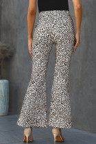 Leopard Print Bell Bottom Pants