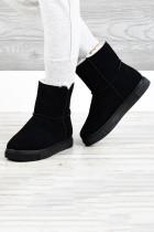 أحذية الثلج الدافئة القطيفة زيبر المطاط الأسود