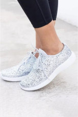 Sepatu kets Silvery Mesh Glitter Glam