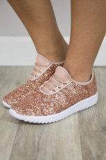 Sepatu kets Glam Pink Mesh Glitter