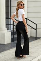 Siyah Sıkıntılı Çan Alt Kot Pantolon