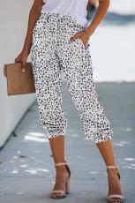 Fekete leopárdmintás húzózsinórok