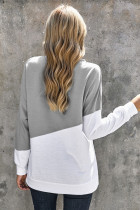 Sweatshirta Patchwork Dropped Shoulder