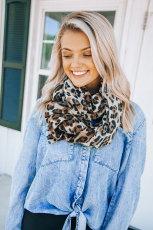 Длинный шарф с леопардовым принтом
