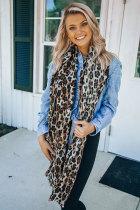 Leopard Print Scarf Long