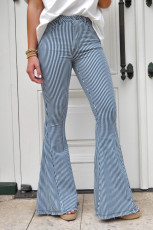 Mile High Pin Stripe Bell Bottoms