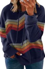 Mikina s kapucí a šňůrkou v modré barvě