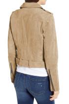 Jachetă Moto din piele de căprioară