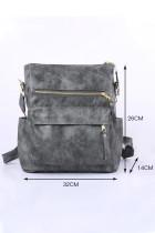 Backpack Grey Casual Versatile