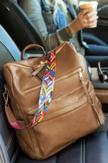 Backpack Brown Casual Versatile