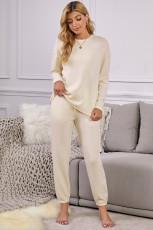 Пижамный комплект с кулиской и карманами в рубчик