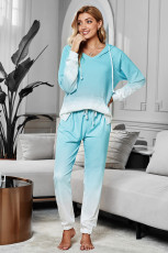 Green Utopia Cotton Blend Tie Dye Hoodie Loungewear Joggers
