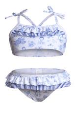 لباس شنای بیکینی دختران کودک نو پا چاپ زیبا با Ruffle