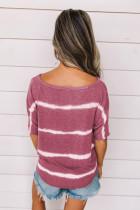 Fuchsia Tie-Dye Print Loses T-Shirt