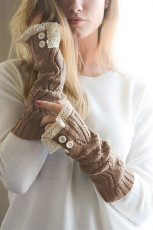 Brown Lace Arm Warmers