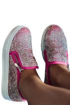 Sepatu kets berlian imitasi mawar