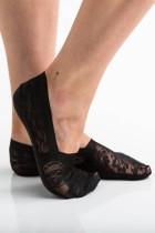 Musta liukumaton kukka pitsi sneaker sukat