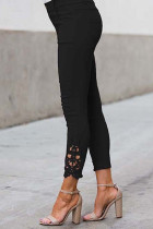Leggings negros de crochet