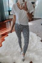 Cross High Waist Leopard Yoga Leggings