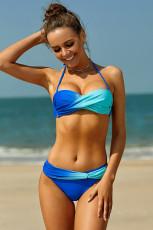 Blue Green Tie Dye Bikini Badetøj