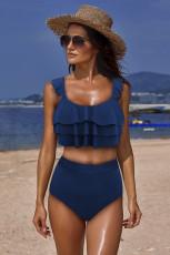 Niebieski zestaw bikini Falbala Design