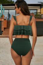 Grön Falbala Design Bikini Set