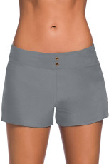 Grey Eyelets Waistband Bad Boyshorts