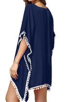Blue Tassel Badeanzug Kimono Vertuschen