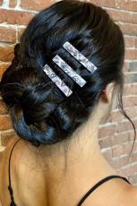 Haarspange mit Marmordruck