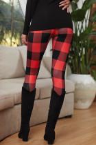 Punainen ruudullinen leggingsit