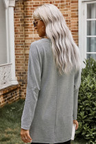Grey Longline Pocketed Top