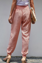 Pink Pocketed Cotton Joggers