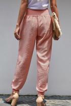กางเกงยีนส์ฝ้ายลายดอกสีชมพู